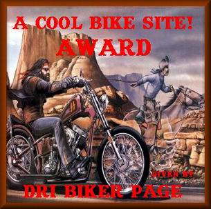 Awarded on August 23, 2001, click on award to visit DRI Biker Page