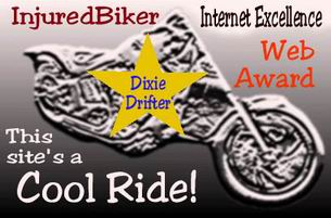 Awarded on August 31, 2001, click on award to visit Injured Biker
