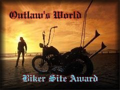Awarded on October 27, 2001, click on award to visit Outlaw's World